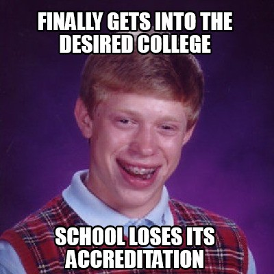 Accreditation Meme