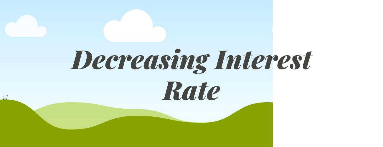 Decreasing Interest rate for federal student loan