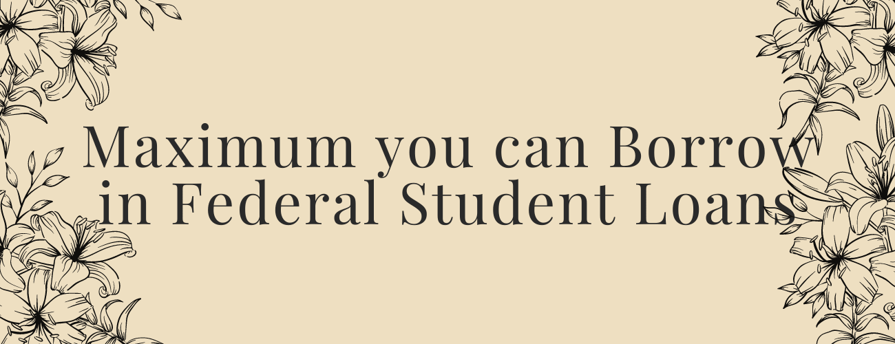 What is the Maximum you can Borrow in Federal Student Loans