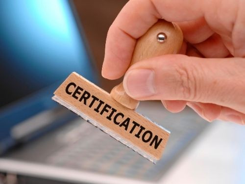 Step 2 Choose the certification course